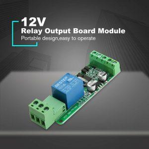 Modbus RTU  RS485 1路 12V 繼電器模組1路輸入 帶光耦隔離 支援 Arduino