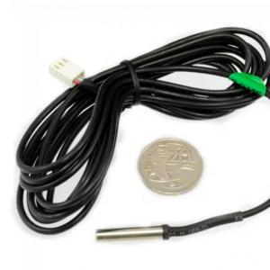 防水型 DS18b20 溫度感測器 100CM 長度 帶不鏽鋼探頭 KF2510 3P 接頭