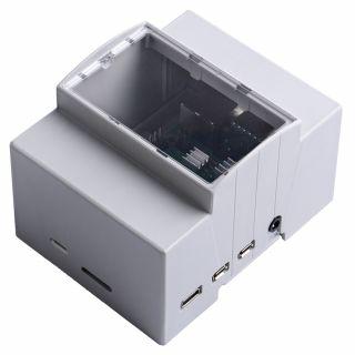 樹莓派 Raspberry Pi 4 Module B 專用 DIN 導軌工控機箱盒