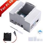 樹莓派 Raspberry Pi 4 Module B 專用 DIN 導軌工控機箱盒  可掛載於滑軌  配電盤 / 電氣箱 / 弱電配電盤