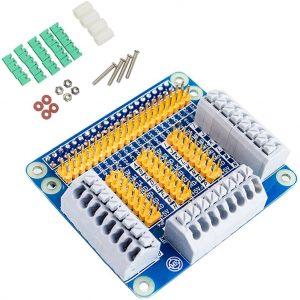樹莓派 4B GPIO 擴展板 / 全部 40Pin 引腳全拉出 / 接線端子兼容 工控擴展板