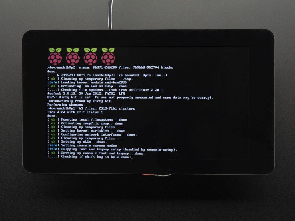 Raspberry Pi Touchscreen 7吋 10點觸控螢幕模組