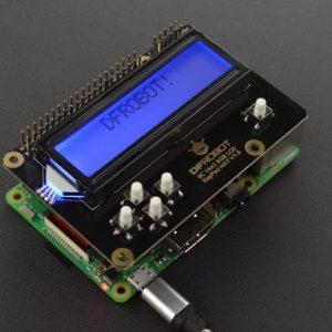 樹莓派專用 RGB 背光的I2C 16x2 RGB LCD 螢幕鍵盤擴展板(與Raspberry Pi 4B / 3B +兼容)