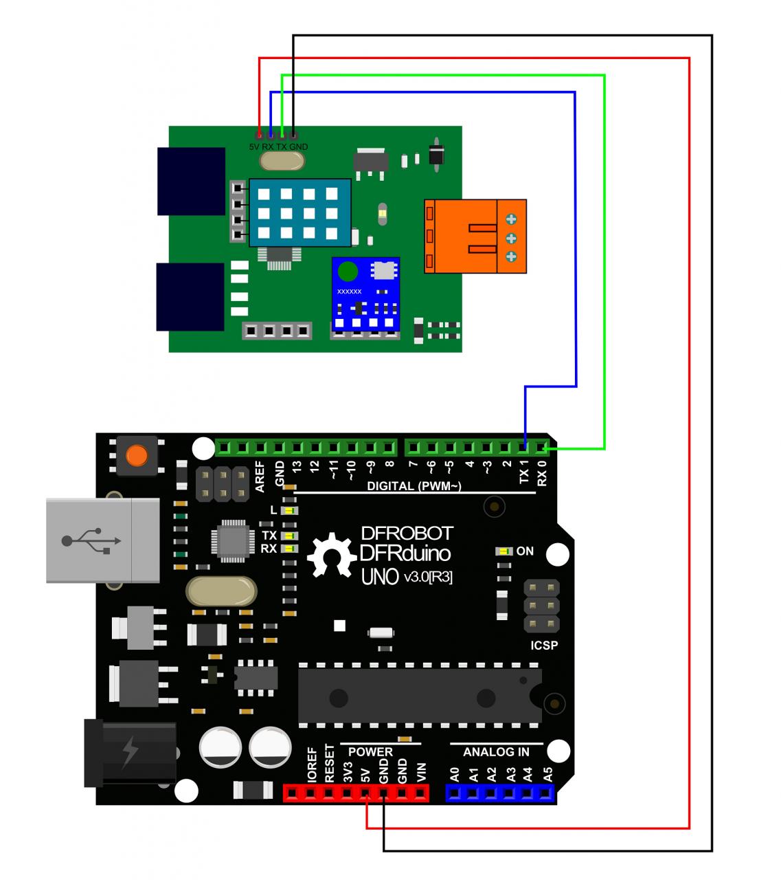 Sensor connection