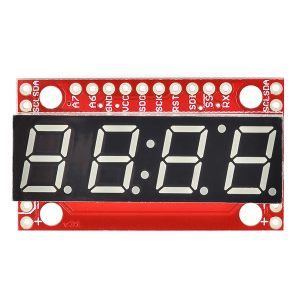 SparkFun  7-Segment Serial Display 多功能紅色4位7段顯示器  串口 TTL