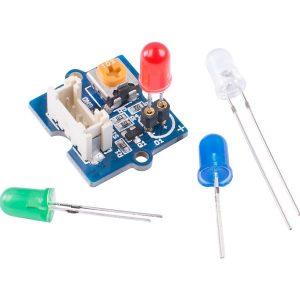Grove - LED Pack  可置換型 4色LED 實驗套件 內建 LED 亮度的旋轉按鈕