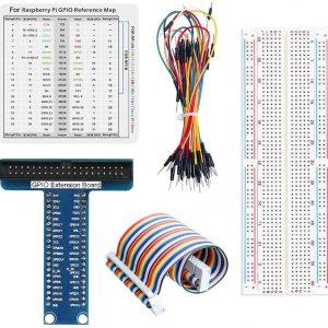樹莓派 4B T 型 GPIO 擴展板實驗套件 麵包板+排線+擴展板+跳線組