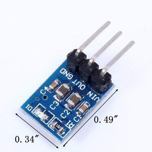 AMS1117-5V 電源模組 3腳 電源板 LDO 800ma  輸入5-12V 固定輸出 5V 迷你尺寸
