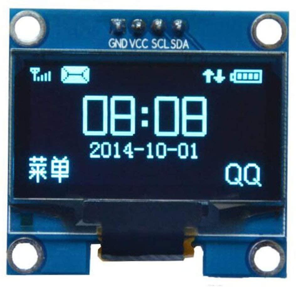 1.3吋 OLED 液晶顯示模組 藍字黑底 I2C/IIC  新版已焊接針腳