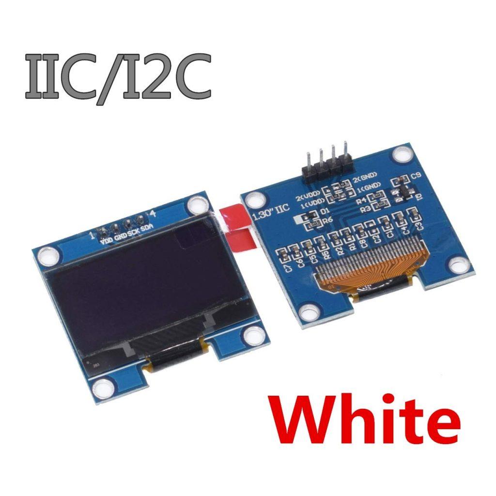 1.3吋 OLED 液晶顯示模組 白字黑底 I2C/IIC 通信 128*64 新版已焊接針腳