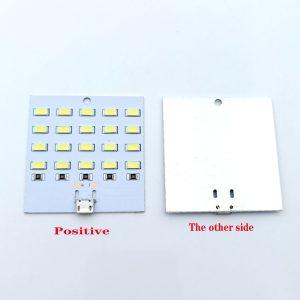 白光型 20 燈珠 USB LED 照明燈板 5V LED 燈板 具備外接電源接點