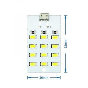 白光型 12 燈珠 USB LED 照明燈板 5V LED 燈板 具備外接電源接點
