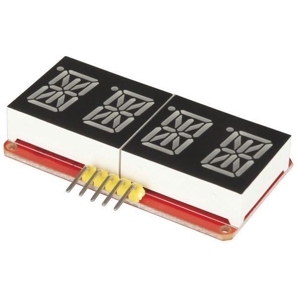 0.54吋 四位型  綠色 字母 數字顯示顯示器 14段 LED 米字顯示器 IIC 通訊