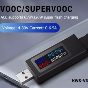 6合1 USB測試儀 IPS顯示屏 USB 電流電壓容量功率檢測試儀