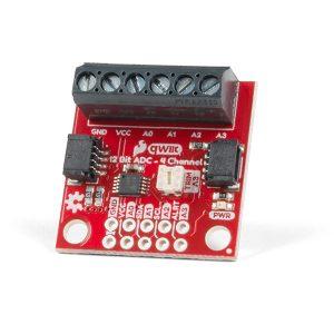 SparkFun Qwiic 12 Bit ADC - 4 Channel (ADS1015) ADC 類比轉數位模組 IIC 通訊
