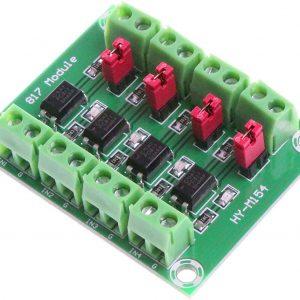 PC817 4通道光電耦合器模組 電壓控制轉接 PC817 光電隔離模組